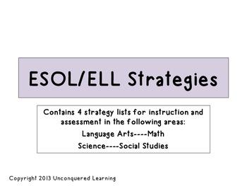 ESOL/ELL Strategies