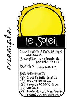 ESPACE • SPACE FACT PAGES in French
