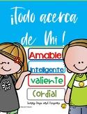 ESPANOL DE VUELTA A CLASES TODO ACERCA DE MI  { FUN POSTERS }