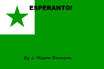 ESPERANTO (ZAMENHOF'S INTERNATIONAL LANGUAGE)