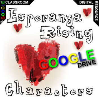 ESPERANZA RISING Characters Organizer (Created for Digital)
