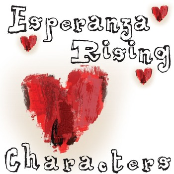 ESPERANZA RISING Characters Organizer (by Pam Munoz Ryan)