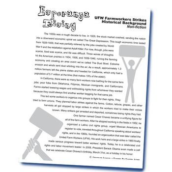 ESPERANZA RISING Farm Labor Strikes Nonfiction Research and Videos