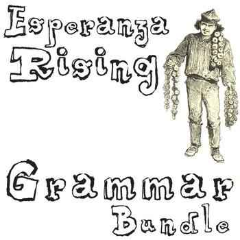 ESPERANZA RISING Grammar Bundle Commas Conjunctions Prepositions Interjections