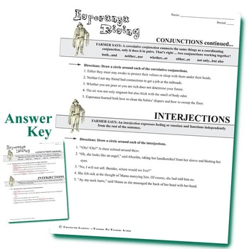 ESPERANZA RISING Grammar Conjunctions Interjections