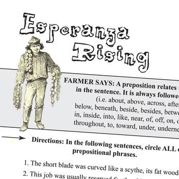 ESPERANZA RISING Grammar Prepositions