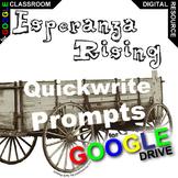 ESPERANZA RISING Journal - Quickwrite Writing (Created for Digital)