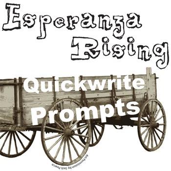 ESPERANZA RISING Journal - Quickwrite Writing Prompts - PowerPoint