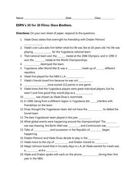 ESPN 30 for 30: Once Brothers Viewing Guide