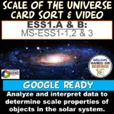 ESS1.A & B PS4.A & B ESS2.A NGSS Integrated Scale of Universe Card Sort & Video