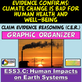 ESS3.C NGSS Claim Evidence Reasoning: Climate Change is Bad for Humans