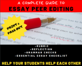 ESSAY: Peer Edit Guide & Checklist - Student Peer Revision