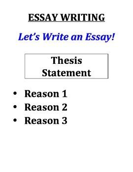 ESSAY WRITING (GRADES 4 - 6)