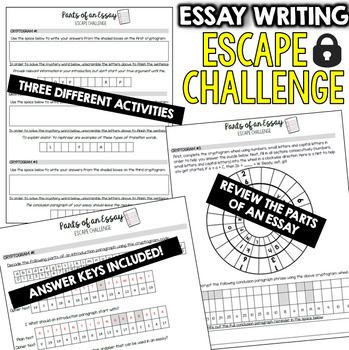 essay escape room activities trivia  puzzle games for students