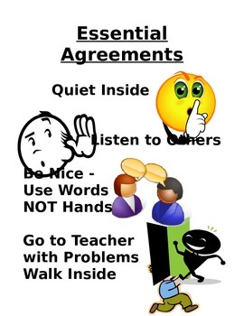 ESSENTIAL AGREEMENTS FOR EARLY CHILDHOOD