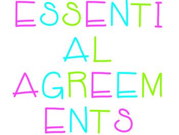 ESSENTIAL AGREEMENTS graphic organizer