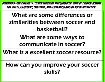 ESSENTIAL QUESTIONS Soccer