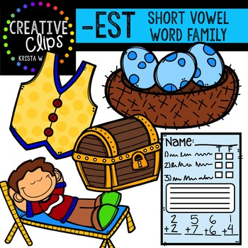 EST Short E Word Family {Creative Clips Digital Clipart}