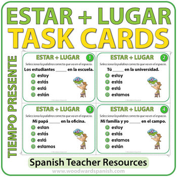 ESTAR + Lugar - Spanish Task Cards