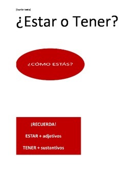 ESTAR O TENER