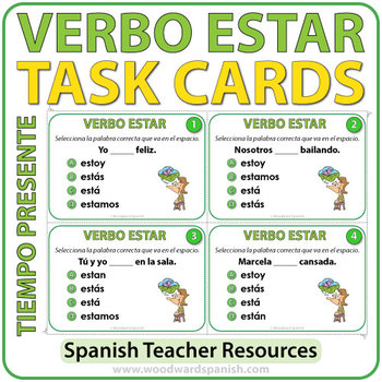 ESTAR - Present Tense - Spanish Task Cards