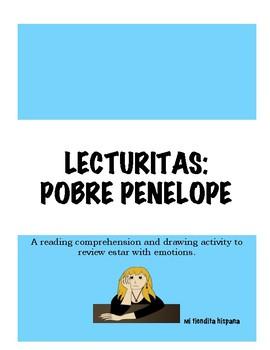 ESTAR WITH EMOTIONS LECTURITAS: POBRE PENELOPE