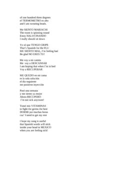 ESTOY ENFERMO  Sick vocabulary Rap song