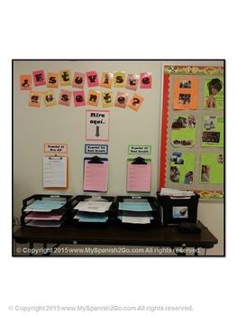 ESTUVISTE AUSENTE:  Set up a missed work station for Spanish class