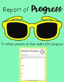 ESY Report of Progress - Provide parents with iEP goal progress