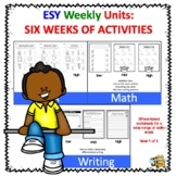 ESY SIX WEEKS OF LESSON PLANS AND ACTIVITIES