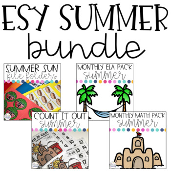 ESY Summer Bundle for Special Education