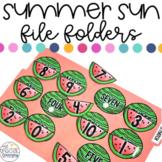 ESY Summer File Folder Activities for Special Education