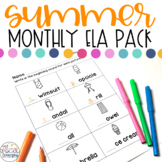 ESY Summer Language Arts Printables for Special Education