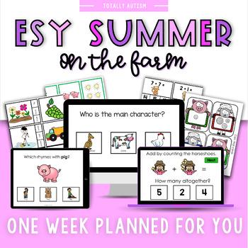 ESY Summer School Unit 2 Down on the Farm