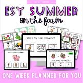 ESY Summer School Unit 2 Down on the Farm- BOOM decks + Interactive PDFs