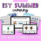 ESY Summer School Unit 5 Camping- BOOM decks + Interactive PDFs