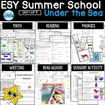 ESY Summer School Unit 1 Under the Sea
