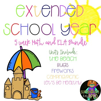 ESY UNITS- MEGA BUNDLE 5 Thematic Units for your Special Education Students