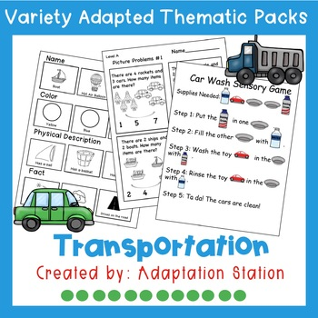 Weekly Thematic Pack: Transportation