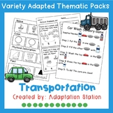 Adapted Thematic Pack: Transportation