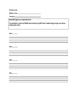ESY data sheet