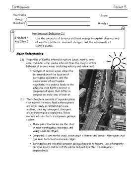 ESworkbooks Guided Inquiry 05 Plate Movements and Earthquakes