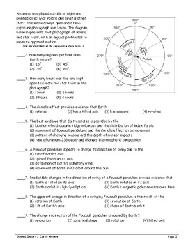 ESworkbooks Guided Inquiry 14 Earth Motions