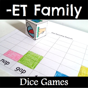 ET Word Family Dice Games for Centers or Small Groups