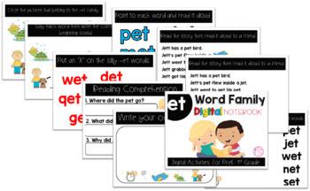 ET Word Family Digital Notebook