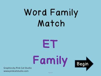 ET Word Family Powerpoint Game