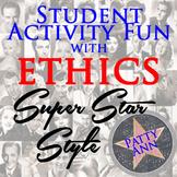 ETHICS CIVICS Super Movie Star Style > Student Activity Challenge Game *No Prep*