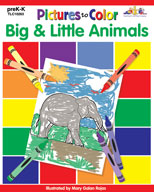 Pictures to Color: Big & Little Animals (Enhanced eBook)