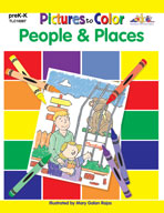 Pictures to Color: People (Enhanced eBook)