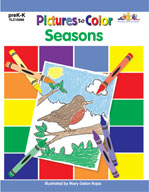 Pictures to Color: Seasons (Enhanced eBook)